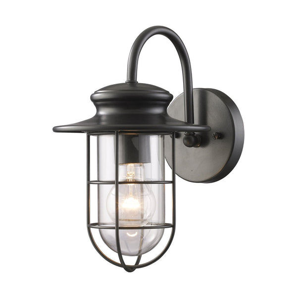 New Product ELK Lighting The Portside 1 Light Outdoor Wall Sconce In Matte Black 42284/1 Sold By VaasuHomes - vaasuandhomes
