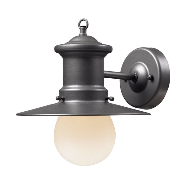 New Product ELK Lighting The Maritime 1 Light Outdoor Wall Sconce In Graphite 42405/1 Sold By VaasuHomes - vaasuandhomes