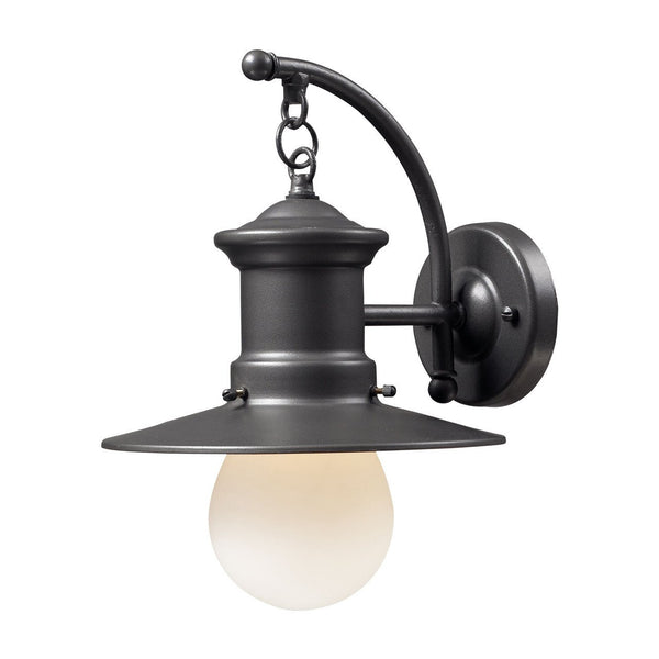 New Product ELK Lighting The Maritime 1 Light Outdoor Wall Sconce In Graphite 42406/1 Sold By VaasuHomes - vaasuandhomes