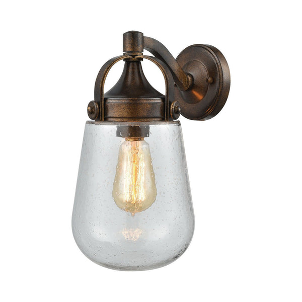 New Product ELK Lighting The Lowden 1 Light Outdoor Wall Sconce In Hazelnut Bronze 42550/1 Sold By VaasuHomes - vaasuandhomes