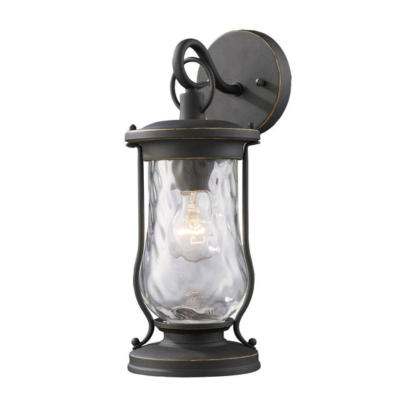 New Product ELK Lighting The Farmstead 1 Light Outdoor Wall Sconce In Matte Black 43016/1 Sold By VaasuHomes - vaasuandhomes