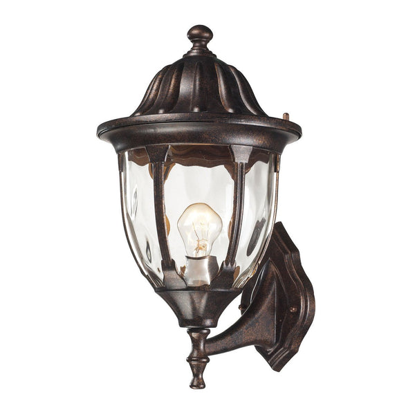 New Product ELK Lighting The Glendale 1 Light Outdoor Wall Sconce In Regal Bronze 45001/1 Sold By VaasuHomes - vaasuandhomes