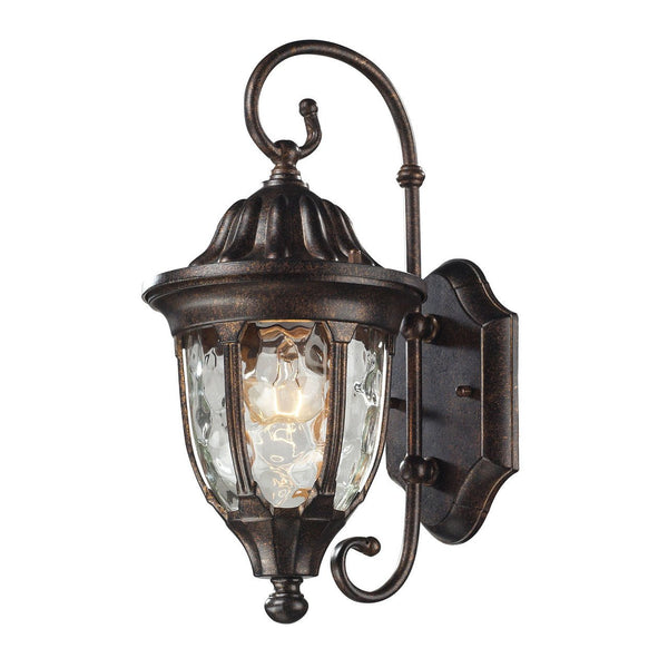 New Product ELK Lighting The Glendale 1 Light Outdoor Wall Sconce In Regal Bronze 45002/1 Sold By VaasuHomes - vaasuandhomes