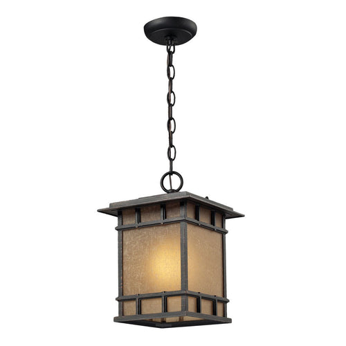 Newlton 1 Light Outdoor Pendant In Weathered Charcoal 45013/1