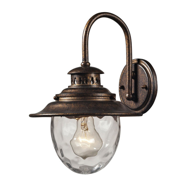 New Product ELK Lighting The Searsport 1 Light Outdoor Wall Sconce In Regal Bronze 45030/1 Sold By VaasuHomes - vaasuandhomes