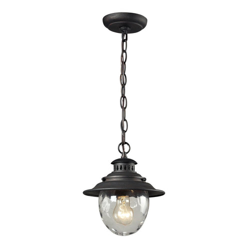 Searsport 1 light Outdoor Pendant In Weathered Charcoal 45041/1