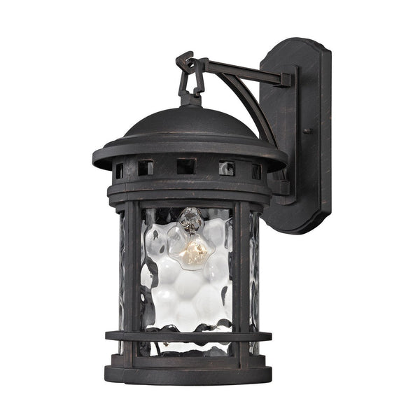 New Product ELK Lighting The Costa Mesa 1 Light Outdoor Wall Sconce In Weathered Charcoal 45111/1 Sold By VaasuHomes - vaasuandhomes