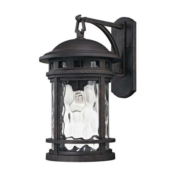 New Product ELK Lighting The Costa Mesa 1 Light Outdoor Wall Sconce In Weathered Charcoal 45112/1 Sold By VaasuHomes - vaasuandhomes