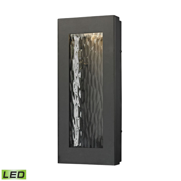 New Product ELK Lighting The Jeremy LED Outdoor Wall Sconce In Matte Black 45190/LED Sold By VaasuHomes - vaasuandhomes