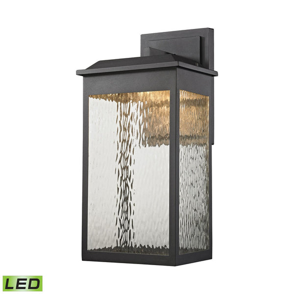 New Product ELK Lighting The Newcastle LED Outdoor Wall Sconce In Matte Black 45202/LED Sold By VaasuHomes - vaasuandhomes