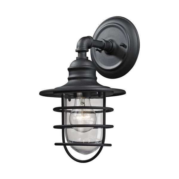 New Product ELK Lighting The Vandon 1 Light Outdoor Wall Sconce In Charcoal 45212/1 Sold By VaasuHomes - vaasuandhomes