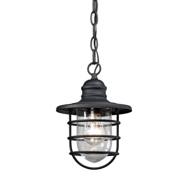 New Product ELK Lighting The Vandon 1 Light Outdoor Wall Sconce In Charcoal 45213/1 Sold By VaasuHomes - vaasuandhomes
