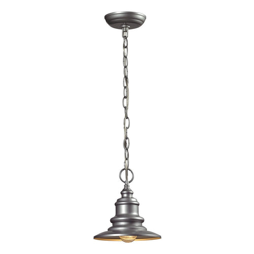 Marina 1 Light Outdoor Pendant In Matte Silver 47021/1
