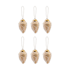 Pomeroy Beaded Ornaments Set - Conical - vaasuandhomes