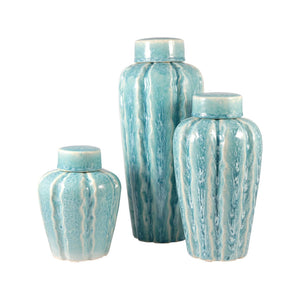Pomeroy Ripples Set of 3 Jars