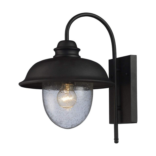 New Product  Streetside Cafe 1 Light Outdoor Wall Sconce In Matte Black 62000-1 Sold by VaasuHomes