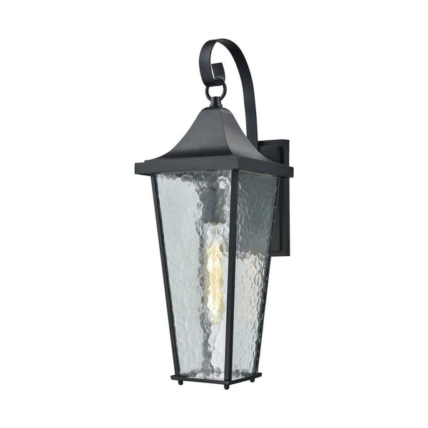 New Product  Vinton 1 Light Outdoor Wall Sconce In Matte Black 87060/1 Sold by VaasuHomes
