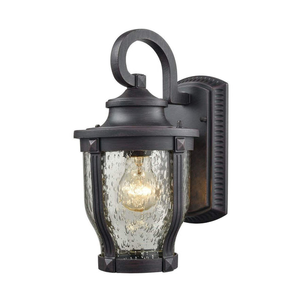 New Product  Milford 1 Light Outdoor Wall Sconce In Graphite Black 87070/1 Sold by VaasuHomes