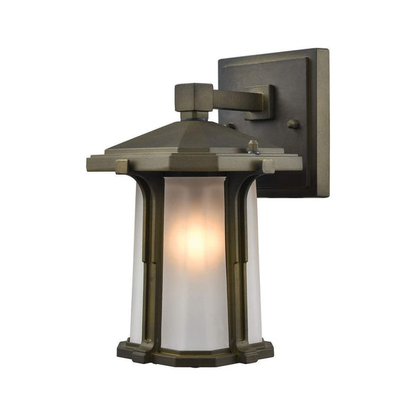 New Product  Brighton 1 Light Outdoor Wall Sconce In Smoked Bronze 87090/1 Sold by VaasuHomes