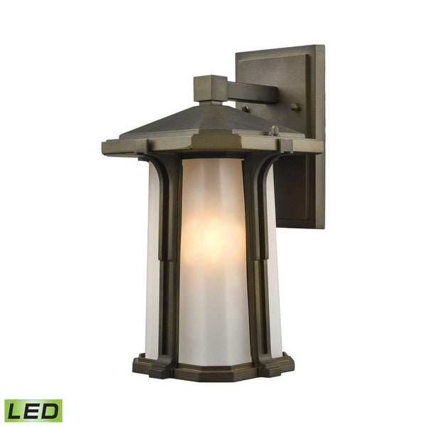 New Product  Brighton 1 Light LED Outdoor Wall Sconce In Smoked Bronze 87091/1-LED Sold by VaasuHomes