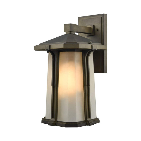 New Product  Brighton 1 Light Outdoor Wall Sconce In Smoked Bronze 87092/1 Sold by VaasuHomes