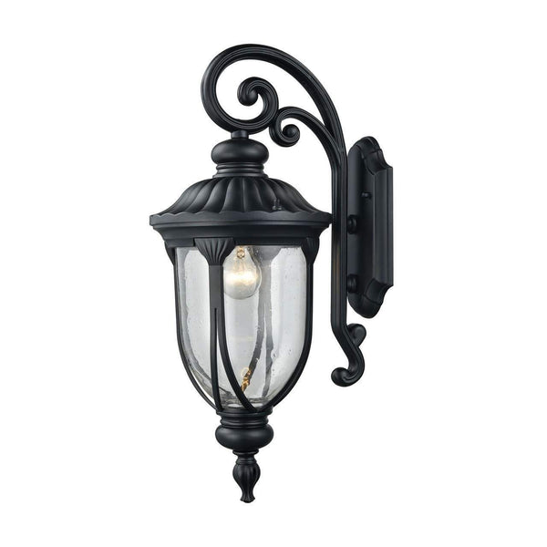 New Product  Derry Hill 1 Light Outdoor Wall Sconce In Matte Black 87101/1 Sold by VaasuHomes