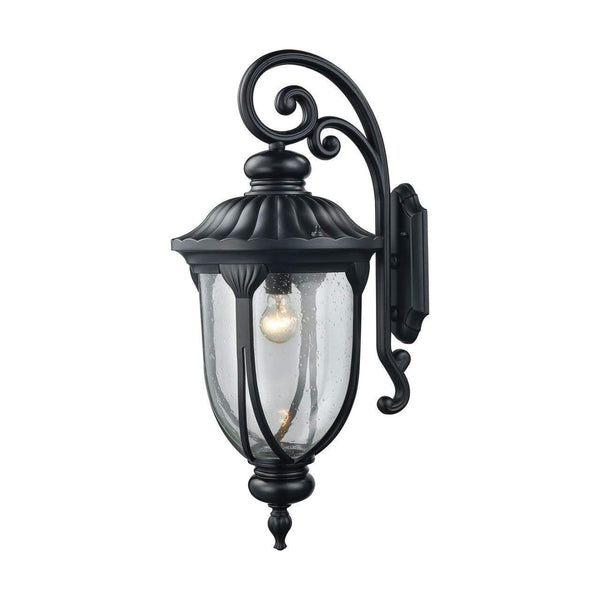 New Product  Derry Hill 1 Light Outdoor Wall Sconce In Matte Black 87102/1 Sold by VaasuHomes