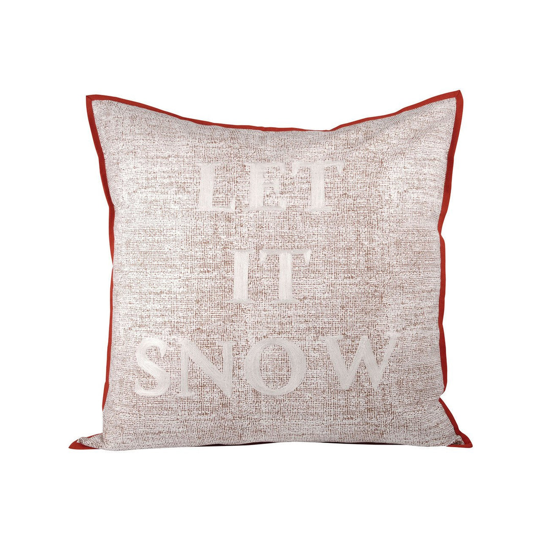 Pomeroy Let It Snow Pillow 24X24-Inch