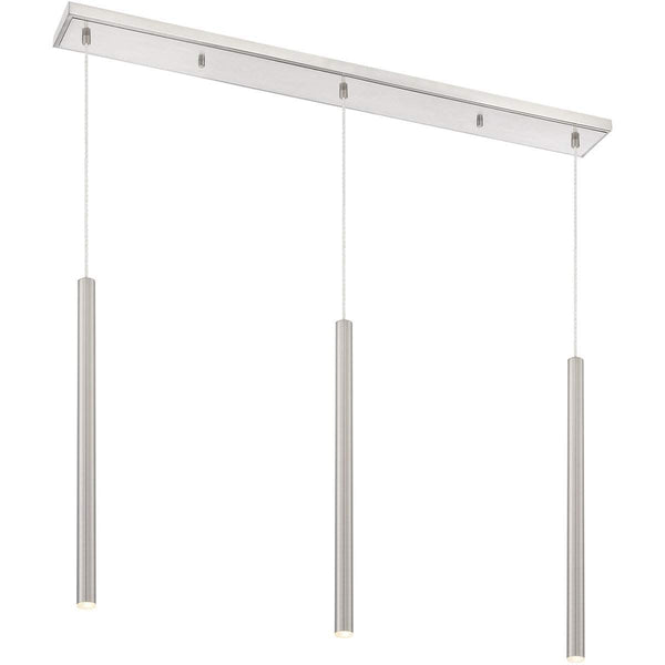 Forest 3 Light Island/Billiard in Brushed Nickel finish