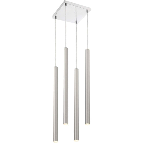 Forest 4 Light Island/Billiard in Brushed Nickel finish