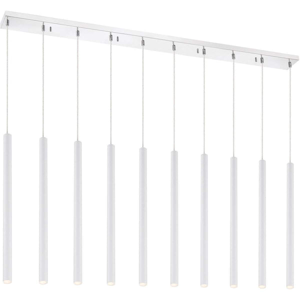 Forest 10 Light Island/Billiard in Matte White finish