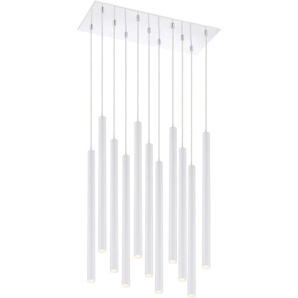 Forest 11 Light Island/Billiard in Matte White finish