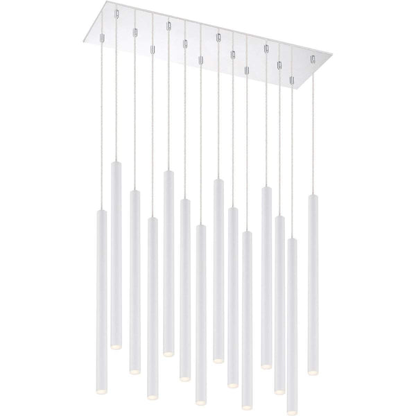 Forest 14 Light Island/Billiard in Matte White finish