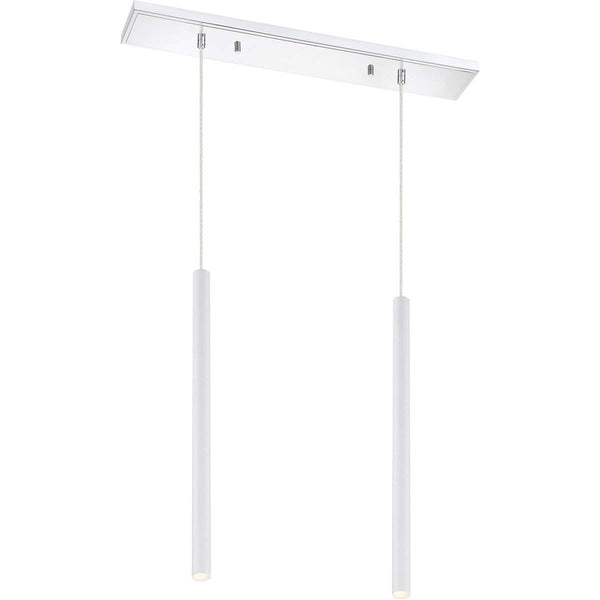 Forest 2 Light Island/Billiard in Matte White finish
