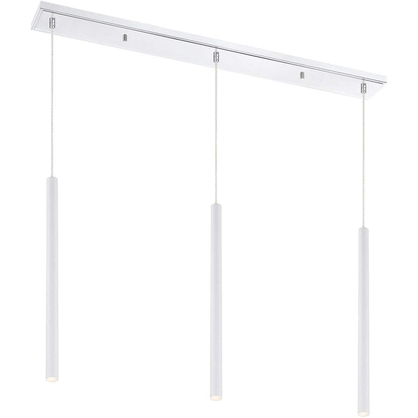 Forest 3 Light Island/Billiard in Matte White finish