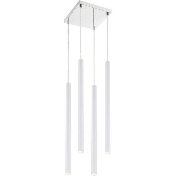 Forest 4 Light Island/Billiard in Matte White finish