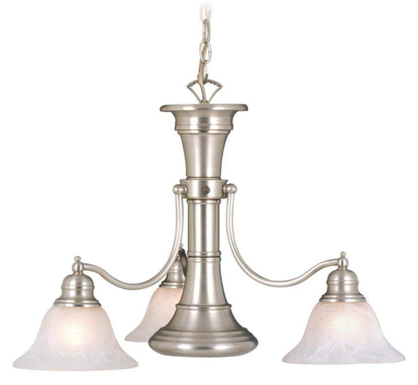 The Vaxcel Standford 4L Chandelier in Brushed Nickel Finish CH30304BN