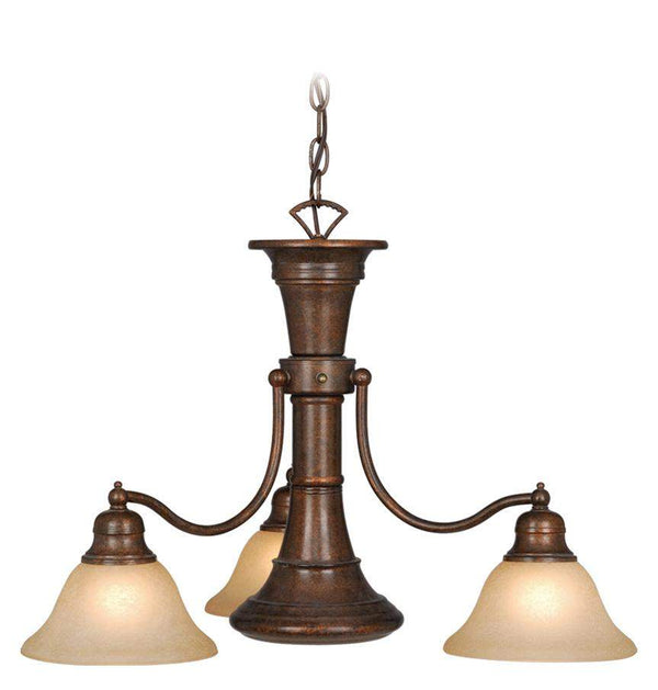 The Vaxcel Standford 4L Chandelier in Royal Bronze Finish CH30304RBZ