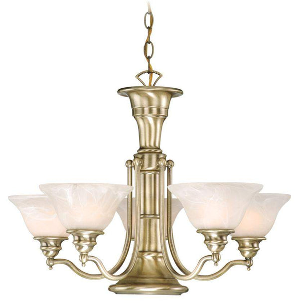 The Vaxcel Standford 6L Chandelier in Antique Brass Finish CH30306A