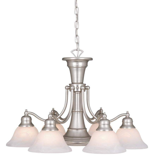 The Vaxcel Standford 7L Chandelier in Brushed Nickel Finish CH30307BN