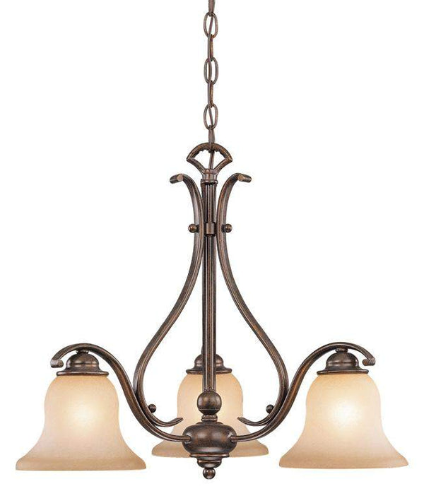 The Vaxcel Monrovia 3L Chandelier in Royal Bronze Finish CH35403RBZ/B