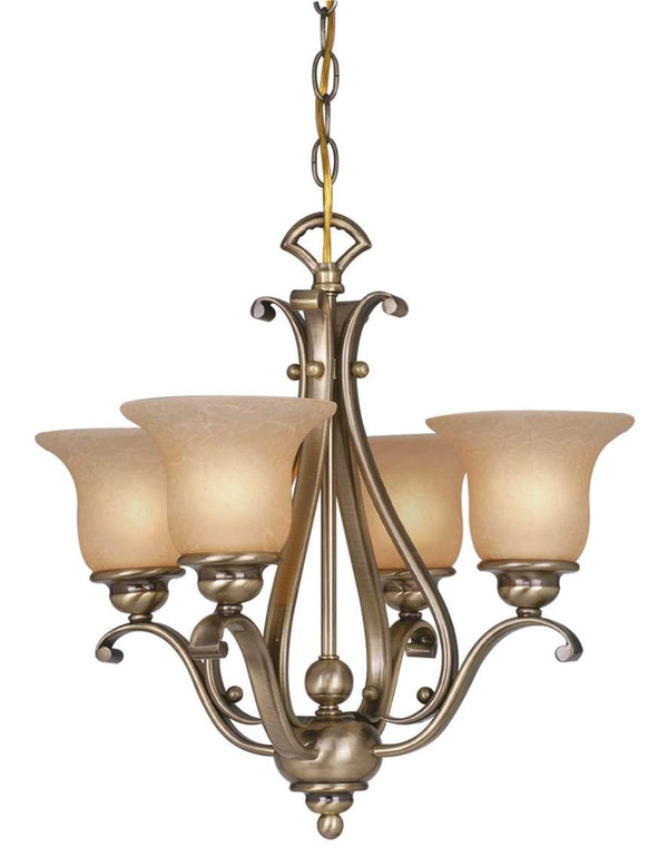The Vaxcel Monrovia 4L Chandelier (Dual Mount) in Royal Bronze Finish CH35404RBZ/B