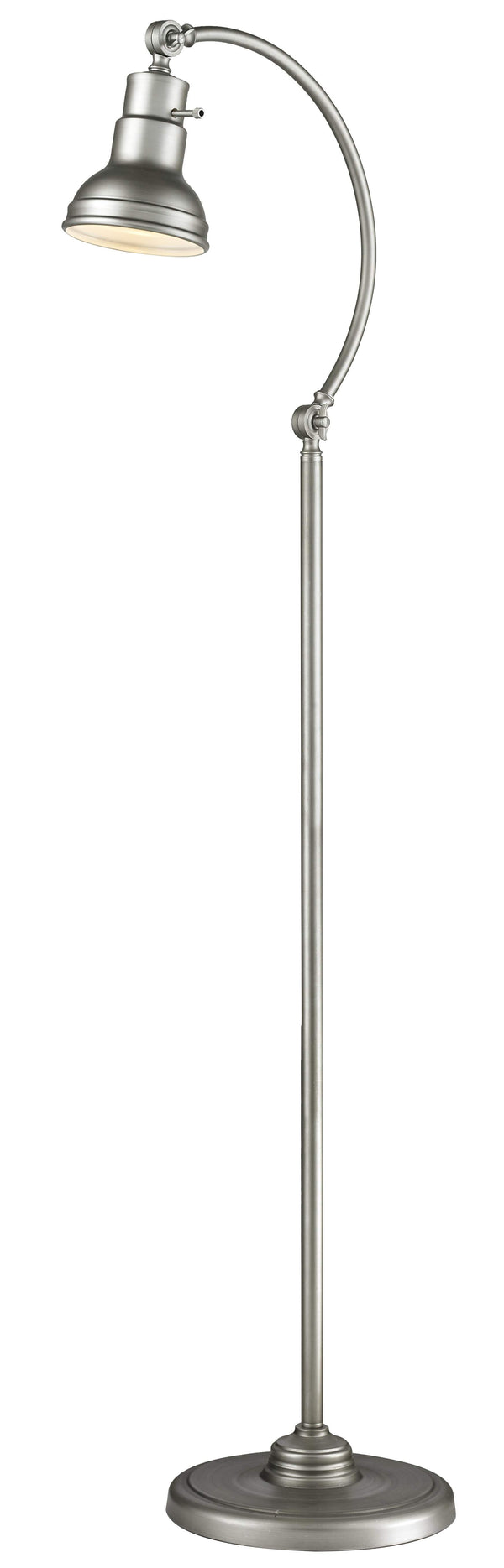 New zlite Product  Ramsay Collection 1 Light Floor Lamp in Burnished Silver Finish Sold by VaasuHomes