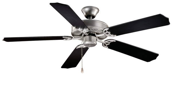 "The Vaxcel Medallion 52"" Ceiling Fan in Flash Silver Finish FN52288BS"