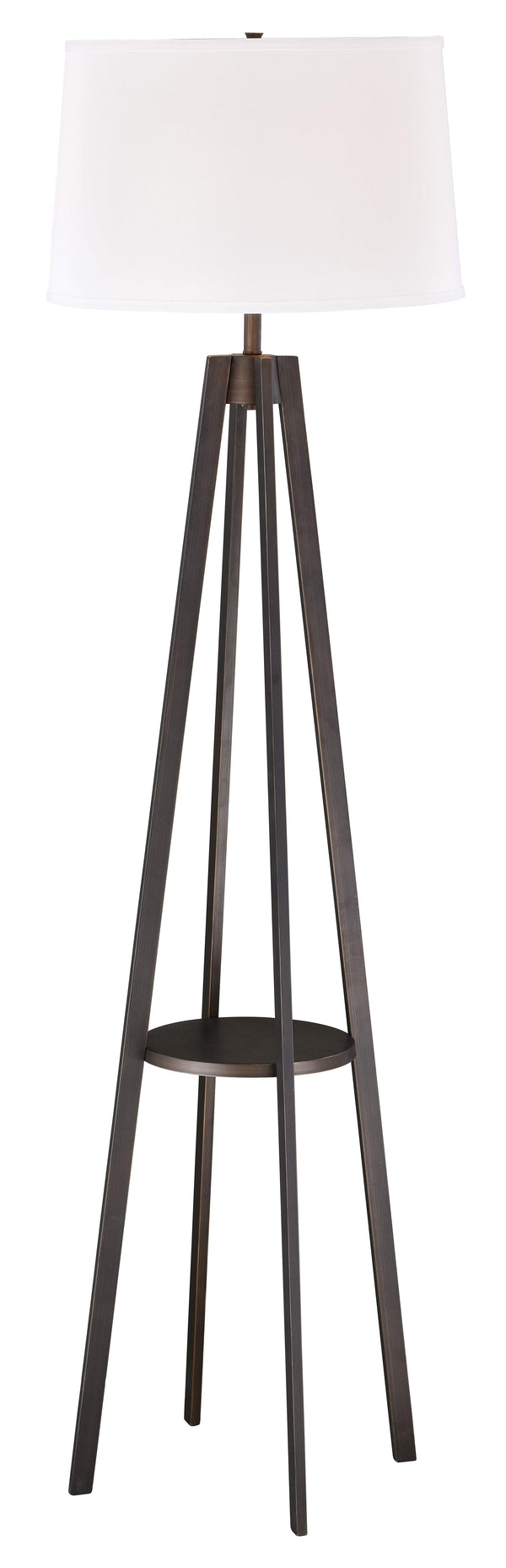 The Vaxcel Perkins Floor Lamp in Sienna Bronze Finish L0007