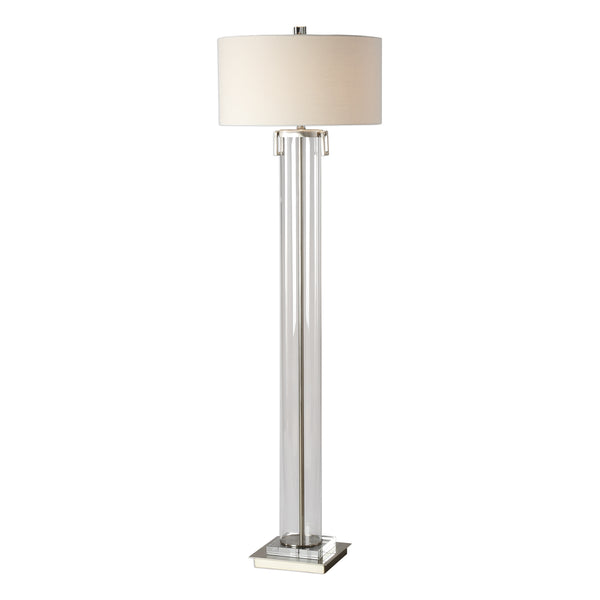 New Product  Uttermost Monette Tall Cylinder Floor Lamp Sold by VaasuHomes - vaasuandhomes