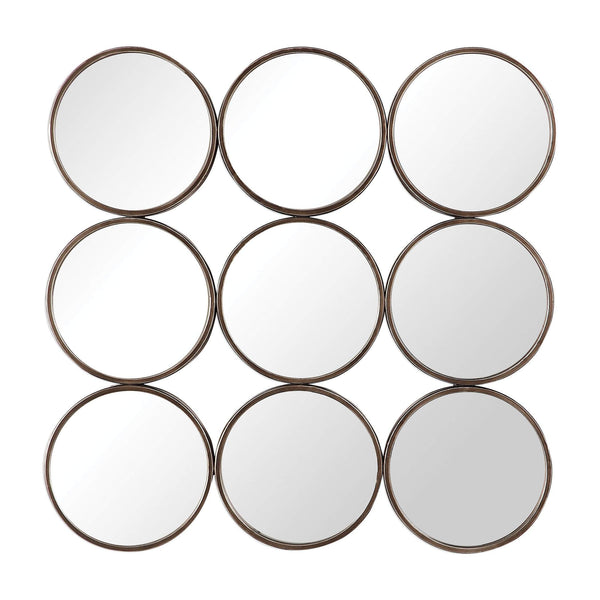Devet Welded Iron Rings Mirror