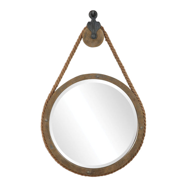 Melton Round Pulley Mirror