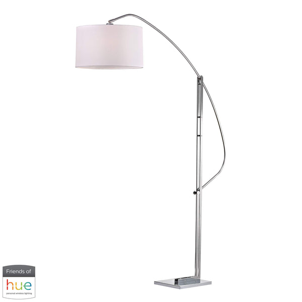 Assissi Adjustable Floor Lamp in Polished Nickel - with Philips Hue LED Bulb/Dimmer