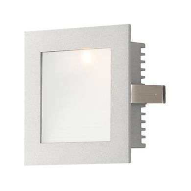 1 Light Xenon Steplight For New Construction With Grey Trim And Opal Glass Lens